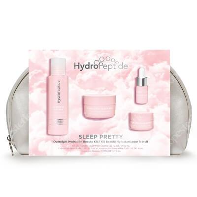 Hydropeptide Sleep Pretty Kit ZESTAW Mleczko 50 ml + Fitoodżywczy olejek do twarzy 3 ml + Maska peptydowa 15 ml + Maska na usta infuzowana peptydem 5 ml + Kosmetyczka