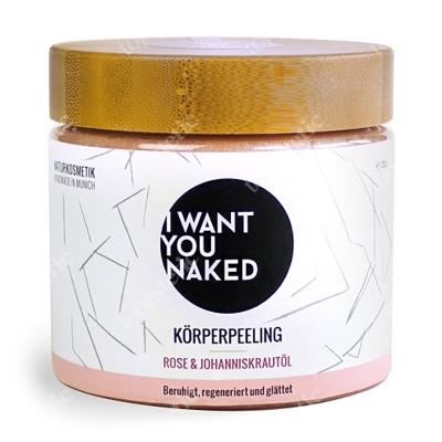 I want you naked Bodyscrub Rose and St. Johns Wort Oil Peeling - róża i olej z dziurawca zwyczajnego 720 g