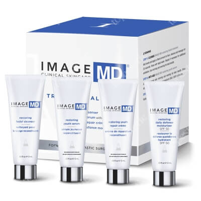 Image Skincare MD Travel Trial Kit ZESTAW Preparat oczyszczający 3 ml + Specjalistyczna kuracja ujędrniająca 3 ml + Kuracja nocna 3 ml + Filtr 3 ml
