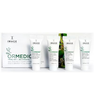 Image Skincare Ormedic Trial Kit ZESTAW Preparat oczyszczający 7 ml + Serum nawilżające7 ml + Maska żelowa 7 ml + Krem nawilżający 7 ml