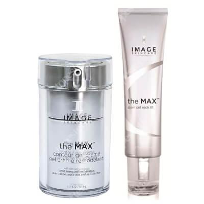 Image Skincare The Max Contour Gel Creme + Stem Cell Neck Lift ZESTAW Krem żel intensywnie korygujący owal twarzy 50 ml + Krem silnie ujędrniający na szyję, podbródek i dekolt 59 ml