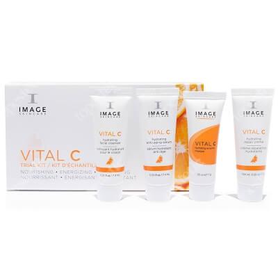 Image Skincare Vital C Trial Kit New ZESTAW Kremowy preparat oczyszczający 7,4 ml + Lekki krem z 15% wit. C, 7,4 ml + Krem odżywczy 7 ml + Maska odżywcza 7 ml