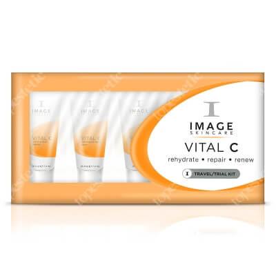 Image Skincare Vital C Trial Kit ZESTAW podróżny dla cer suchych, odwodnionych, wrażliwych, naczynkowych, poszarzałych 5x7,4 ml