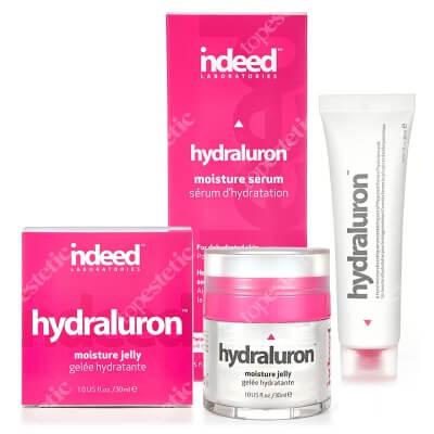 Indeed Hydraluron Moisture Jelly + Hydraluron Serum ZESTAW Natychmiastowe i długotrwałe nawilżenie 30 ml + Serum głęboko nawilżające 30 ml