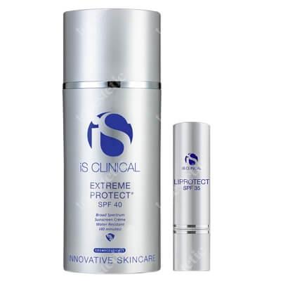 iS Clinical Extreme Protect + Liprotect ZESTAW Nawilżający krem z ochroną przeciwsłoneczną SPF 40 (kolor bezbarwny) 100 g + Nawilżenie i ochrona ust SPF 35, 5 g