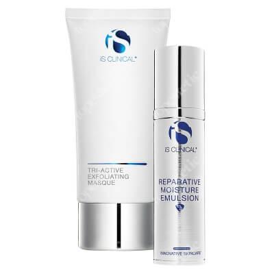iS Clinical Tri-Active Exfoliating Masque + Reparative Moisture Emulsion ZESTAW Maseczka eksfoliująca 120 g + Krem nawilżający 50 g