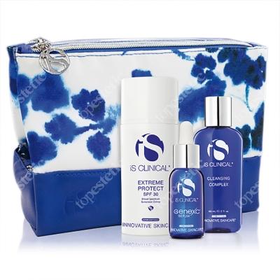 iS Clinical Wiosenno-Letnia Ochrona ZESTAW Cleansing Complex 60 ml + Genexc 15ml + Extreme Protect 100 g + kosmetyczka