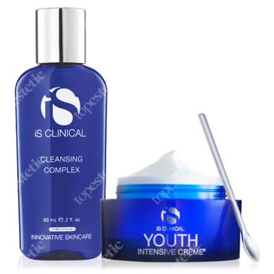 iS Clinical Youth Intensive Creme + Cleansing Complex ZESTAW Krem przeciwstarzeniowy do wszystkich rodzajów skóry 50 g + Żel oczyszczający 60 ml