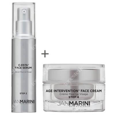 Jan Marini C-ESTA Face Serum + Age Intervention Face Cream ZESTAW Serum do twarzy z witaminą C i DMAE 30 ml + Przeciwstarzeniowy krem do twarzy 28 g