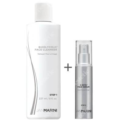 Jan Marini Oczyszczenie i Rozświetlenie ZESTAW Serum do twarzy z witaminą C i DMAE 30 ml + Emulsja do mycia twarzy z kwasem glikolowym 237 ml