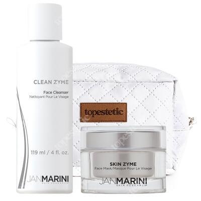 Jan Marini Złuszczanie Na Bazie Enzymów ZESTAW Enzymatyczny żel oczyszczający 119 ml + Maska enzymatyczna 57 g + Kosmetyczka