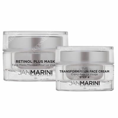 Jan Marini Odmłodzenie I Nawilżenie ZESTAW Maska z retinolem 34,5 g + Nawilżający krem do twarzy 28 g