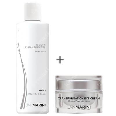 Jan Marini Transformation Eye Cream + C-ESTA Cleansing Gel ZESTAW Regenerujący krem pod oczy 14 g + Żel do mycia twarzy z witaminą C i DMAE 237 ml