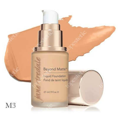 Jane Iredale Beyond Matte™ Liquid Foundation M3 Wielozadaniowy i długotrwały podkład ( light to medium with peach undertones ) 27 ml