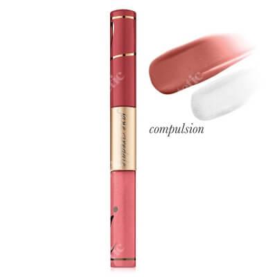 Jane Iredale Lip Fixation - Stain/Gloss Pomadka długotrwała, nawilżająca z błyszczykiem 6 ml (kolor Compulsion)
