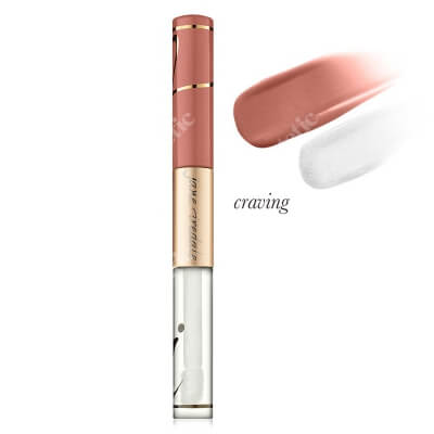 Jane Iredale Lip Fixation - Stain/Gloss Pomadka długotrwała, nawilżająca z błyszczykiem 6 ml (kolor Craving)