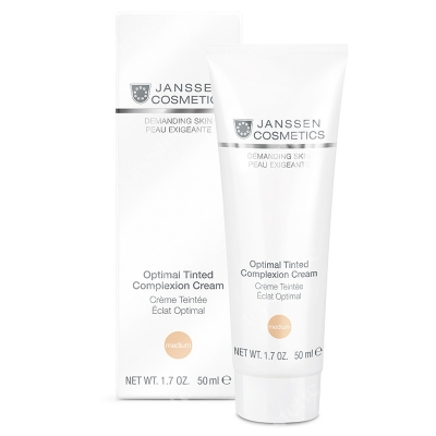 Janssen Cosmetics Optimal Tinted Complexion Cream Medium Odżywczy krem na dzień z kolorantem SPF 10, 50 ml