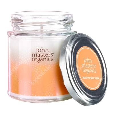 John Masters Organics Blood Orange & Vanilla Candle Sojowa świeca zapachowa - Czerwona pomarańcza & Wanilia 184 g