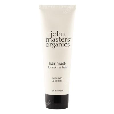 John Masters Organics Hair Mask For Normal Hair Róża i morela – maska do włosów normalnych 148 ml