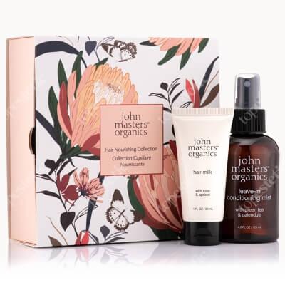 John Masters Organics Hair Nourishing Collection 2020 ZESTAW Odżywka bez spłukiwania z zieloną herbatą i nagietkiem 125 ml + Mleczko do włosów z różą i morelą 30 ml