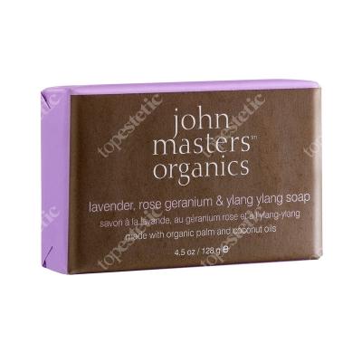 John Masters Organics Lavender, Rose geranium & Ylang Ylang Soap Mydło lawenda, róża geranium i ylang ylang 128 g