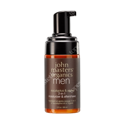 John Masters Organics Men Eucalyptus & Agave 2 in 1 Moisturizer & Aftershave Krem nawilżający i po goleniu 2 w 1 dla mężczyzn 89 ml