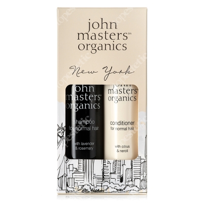John Masters Organics New York Set - For Normal Hair ZESTAW Lawenda i rozmaryn - szampon do włosów normalnych 236 ml + Cytrus i gorzka pomarańcza – odżywka do włosów 236 ml