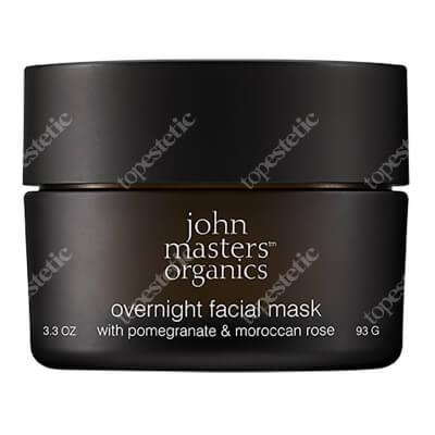 John Masters Organics Overnight Facial Mask - Pomegranate & Moroccan Rose Maska do twarzy z granatem i różą na noc 93 g