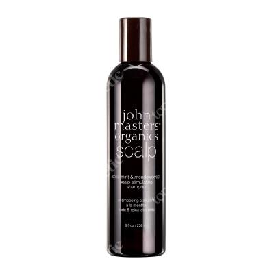 John Masters Organics Spearmint & Meadowsweet Scalp Stimulating Shampoo Mięta i wiązówka błotna – szampon do włosów wypadających i osłabionych 236 ml