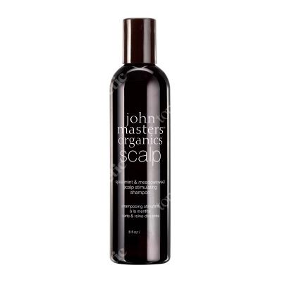 John Masters Organics Spearmint & Meadowsweet Scalp Stimulating Shampoo Mięta i wiązówka błotna – szampon do włosów przetłuszczających się 473 ml