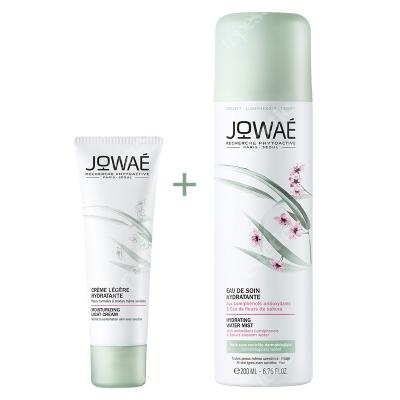 Jowae Moisturizing Light Cream + Hydrating Water Mist ZESTAW Lekki krem nawilżający 40 ml + Pielęgnująca mgiełka 200 ml