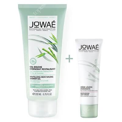 Jowae Moisturizing Light Cream + Revitalizing Moisturizing Shower Gel ZESTAW Lekki krem nawilżający 40 ml + Żel pod prysznic z wodą bambusową 200 ml