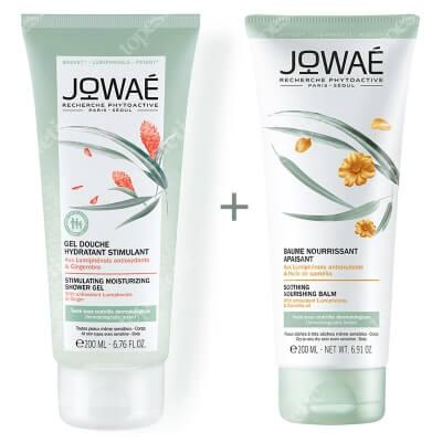 Jowae Soothing Nourishing Balm & Stimulating Shower Gel ZESTAW Balsam kojący 200 ml + Energetyzujący żel pod prysznic 200 ml