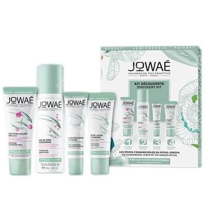 Jowae Starter Pack 4 Steps ZESTAW Mgiełka 50 ml + Mleczko micelarne 30 ml + Lekki krem nawilżający 15 ml + Koncenrat młodości 10 ml