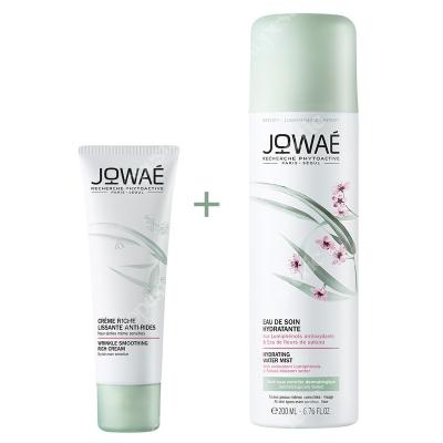 Jowae Wrinkle Smoothing Rich Cream + Hydrating Water Mist ZESTAW Bogaty krem wygładzający zmarszczki 40 ml + Pielęgnująca mgiełka 200 ml