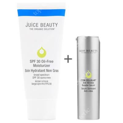 Juice Beauty Oil Free Moisturizer SPF 30 + Anti Wrinkle Booster Serum ZESTAW Krem nawilżający z filtrem 60 ml + Serum przeciwzmarszczkowe 30 ml