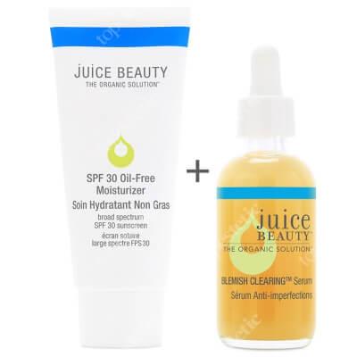 Juice Beauty Oil Free Moisturizer SPF 30 + Blemish Clearing Serum ZESTAW Krem nawilżający z filtrem 60 ml + Serum do twarzy 60 ml