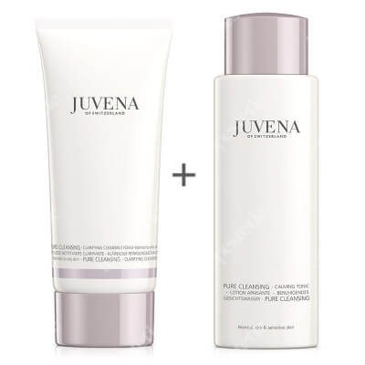 Juvena Clarifying Cleansing Foam + Calming Tonic ZESTAW Pianka oczyszczająca 200 ml + Tonik łagodzący 200 ml