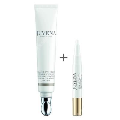 Juvena Miracle Eye Cream + Lip Filler & Booster ZESTAW Krem przeciwstarzeniowy pod oczy 20 ml + Ujędrniający booster do ust 4,2 ml