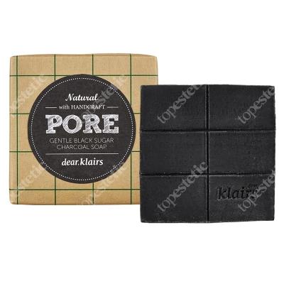 Klairs Gentle Black Sugar Charcoal Soap Delikatne mydło ręcznie wytwarzane 100 g