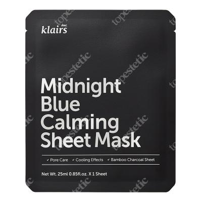 Klairs Midnight Blue Calming Sheet Mask Łagodząco-chłodząca maseczka w płachcie 1 szt.