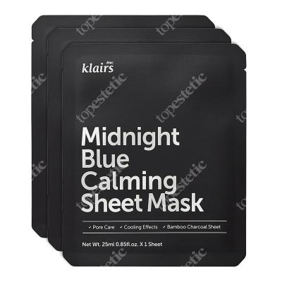 Klairs Midnight Blue Calming Sheet Mask Łagodząco-chłodząca maseczka w płachcie 3 szt.