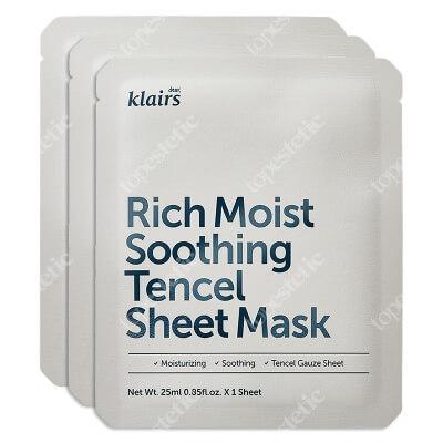 Klairs Rich Moist Soothing Tencel Sheet Mask Maseczka łagodząca 3 x 25 ml