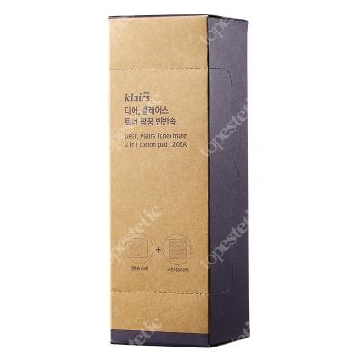 Klairs Toner Mate 2 in 1 Cotton Pad 120EA Dwustronne płatki kosmetyczne 120 szt.
