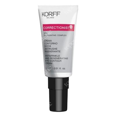 Korff Antiwrinkle and Regenerating Eye Contour Cream Regenerujący krem przeciwzmarszczkowy pod oczy 15 ml