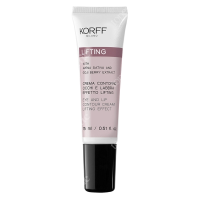 Korff Eye and Lip Contour Cream Lifting Effect Krem modelujący do skóry wokół oczu i ust 15 ml