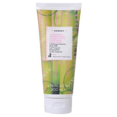 Korres Body Milk Cucumber Bamboo Mleczko nawilżające do ciała o zapachu ogórka i bambusa 200 ml