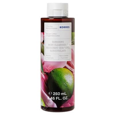 Korres Ginger Lime Renewing Body Cleanser Żel pod prysznic o zapachu imbiru i limonki 250 ml
