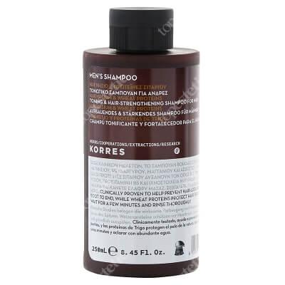 Korres Mens Shampoo Szampon wzmacniający do włosów z magnezem i proteinami pszenicy 250 ml
