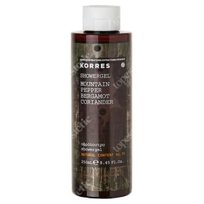 Korres Showergel Mountain Pepper Żel pod prysznic o zapachu pieprzu górskiego, bergamotki i kolendry 250 ml